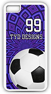 iPhone Tough Case Fits Models 6s or 6 Create Your Own Soccer SC1054 with Player Jersey Number and/Or Name Or Team Name Customizable by TYD Designs in Tough White