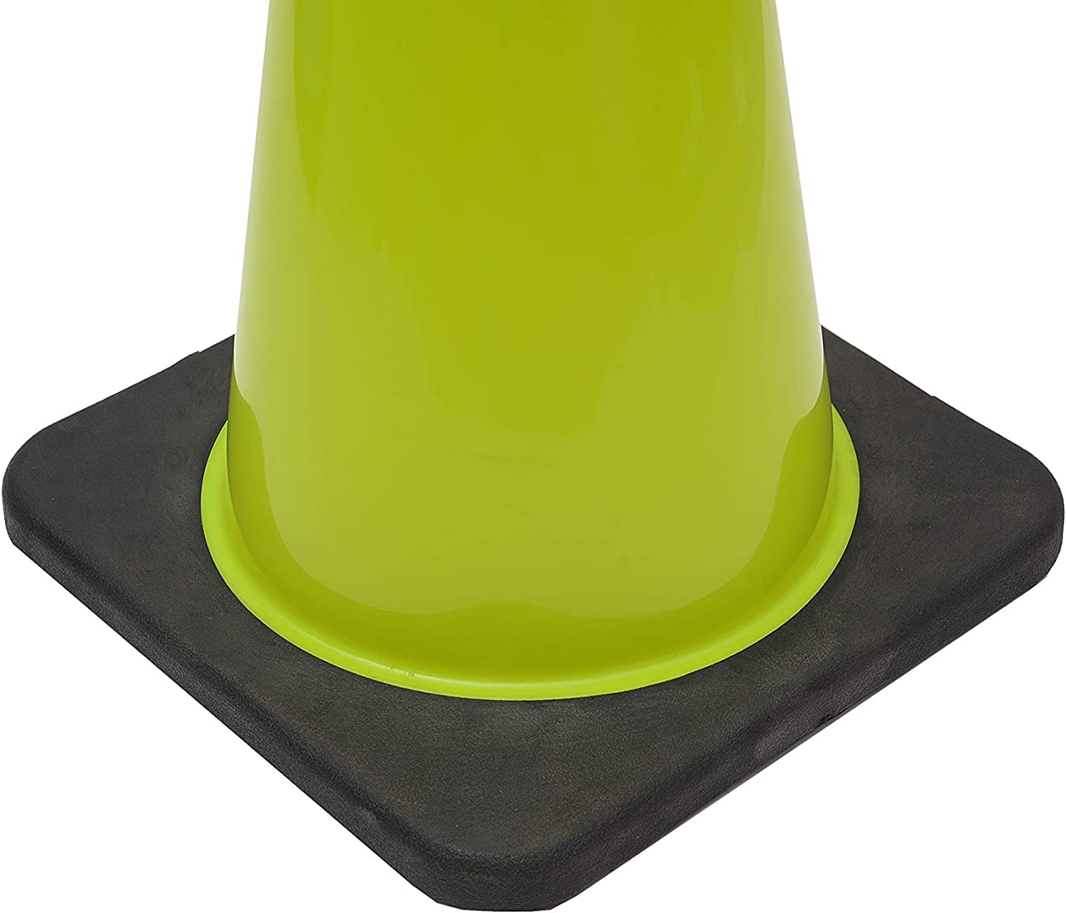 12 Cones, Lime Green CJ Safety 18 Lime Green PVC Traffic Safety Cones