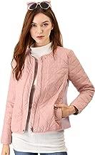 Allegra K Women's Zip up Ribbed Lightweight Gilet Quilted Jacket