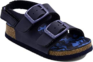 Nautica Kids Grant Toddler Open Toe Sandal 2 Buckle Straps Comfort Slide Outdoor Back Strap Casual Sandals (Toddler/Little Kid)