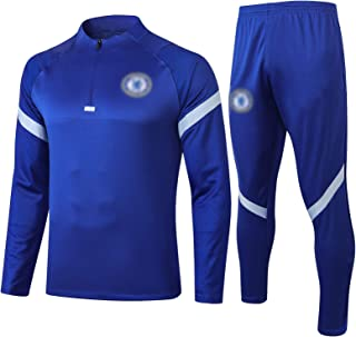 BVNGH Chelsea Football Jersey Training Suit,2021 New Season Long-sleeved Fashion Sportswear,Breathable and Comfortable Swe...