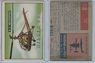 1952 Topps, Wings, 160 Hiller 360, US Helicopter