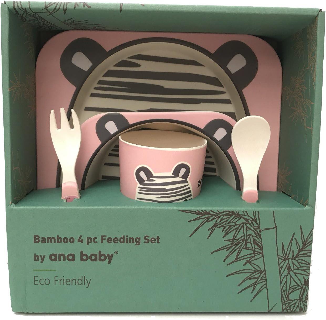 MAJFK Ensemble de vaisselle en Fiber de bambou enfant en bas /âge b/éb/é enfants alimentation mignon dessin anim/é voiture forme plaque plateau alimentaire tasse vaisselle d/îner ensemble de vaisselle,Rose