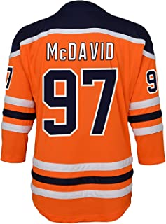 Connor McDavid Edmonton Oilers #97 Orange Kids 4-7 Home Replica Jersey