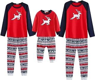 Weixinbuy Men's Family Matching Christmas Pajamas Set, Clothes Set