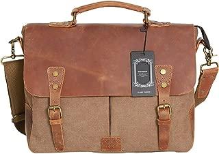 WOWBOX Messenger Bag Satchel Vintage Canvas Leather 13