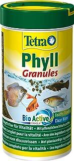 Tetra Phyll Granules – karma dla wszystkich ryb ozdobnych, karma granulowa z włóknami niezbędnymi do życia i puszka 250 ml