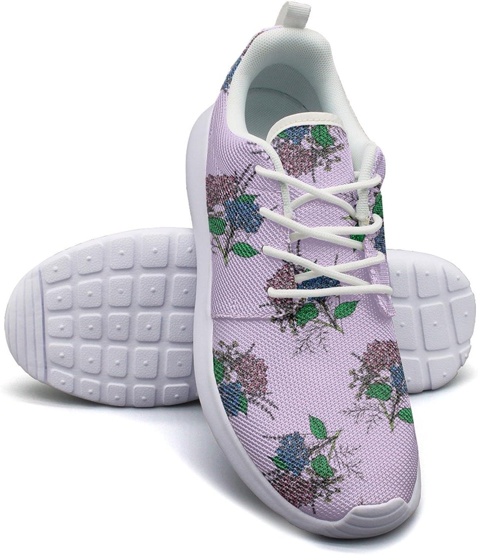 Provence Lavender Flower Purple Women's Lightweight Mesh Sneakers Vintage Running shoes