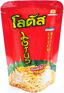 Lotus Biscuit Stick Thai Style Snack Crispy and Tasty 55g. [Pack of 3 ]