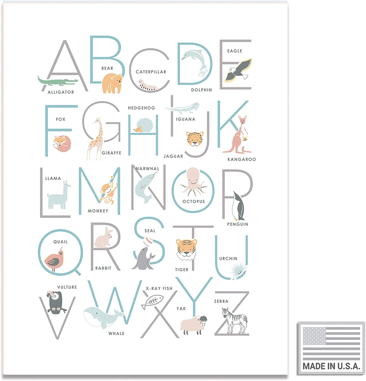 Animal Alphabet Poster 20x20