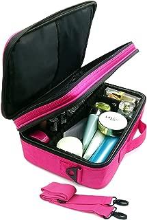 Travel Makeup Bag/Train Case, 3 Layer 12.6
