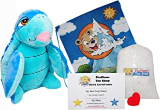 Make Your Own Stuffed Animal Swirls the Blue Turtle- No Sew - Kit With Cute Backpack!