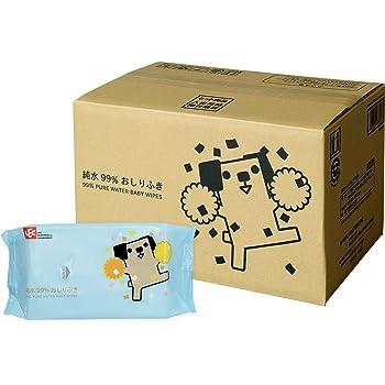 【Amazon.co.jp限定】 純水99% おしりふき 「ポチ」 80枚入×20個 (1600枚)