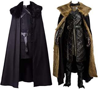 Jon Snow Cosplay Costume Knights Cosplay Night's Watch Costume Halloween Sansa Costume Cape Outfit