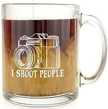 I Shoot People - Glass Coffee Mug - Makes a Great Gift for Photographers!