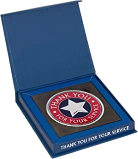 AttaCoin Large Thank You for Your Service Coin + Display Box, Veteran Gift Series