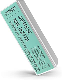 Onsen Professional Nail Buffer, Ultimate Shine Nail Buffing Block With 3 Way Buffing Methods, Smooth & Shine After Onsen N...