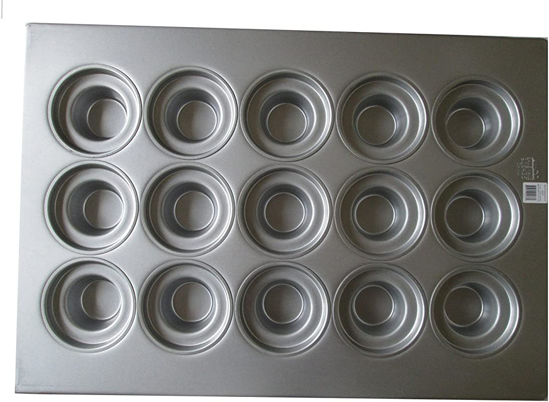 Focus Foodservice 905435 Large Crown Muffin Pan 15 7 5 16 Oz Cup Capacity