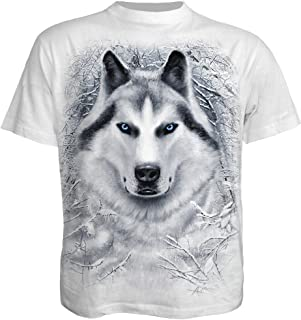 Mens - White Wolf - T-Shirt White