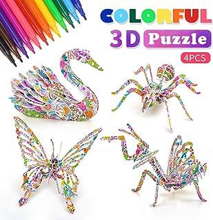 DIMU Juego de Rompecabezas de Colorear en 3D para niños, Arte y Manualidades para niños, niñas, niños, Regalos de cumpleaños