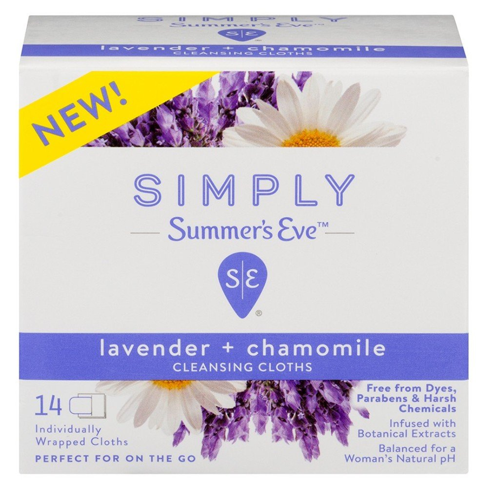 Summers Eve Popular brand Simply Cleansing Cloths Lavender Count Chamomil trust 14