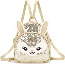 Girls Mini Mermaid Backpack Toddler 3D Animal Casual Daypack PU Leather Preschool Convertible Shoulder Bag Gift for Kids (...