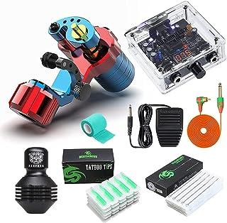 Rotary Tattoo Machine Kit Lichtgewicht Falcon Coreless Motor RCA Cord Roterende Permanente Make-up Machine Set met Voeding...