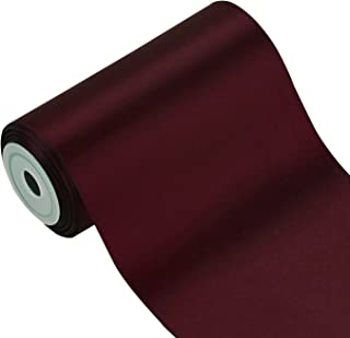 007 Silber RUSPEPA 4.5m x 100mm Breite Solid Color Double Face Satin-Band