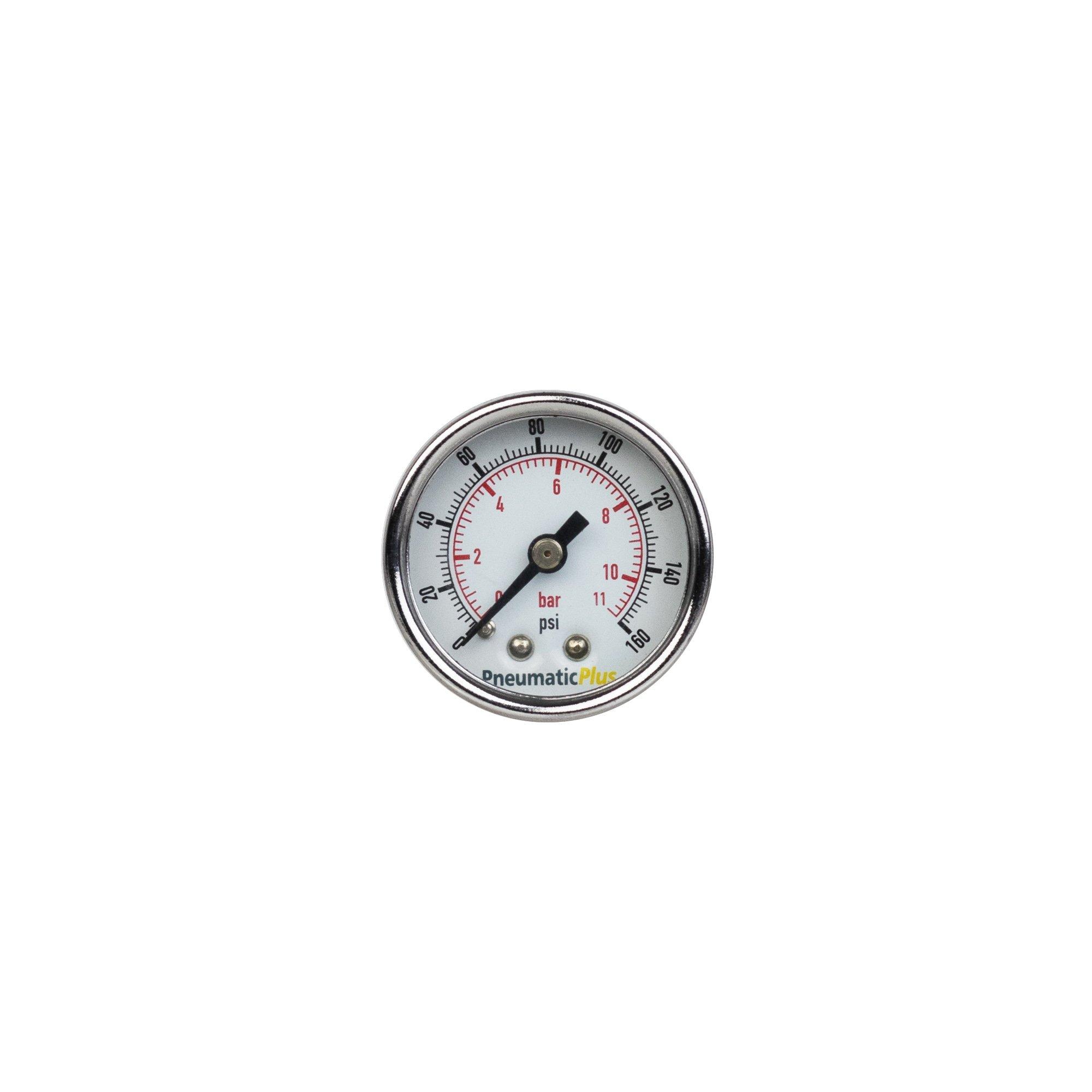 "New air pressure gauge WOG water oil gas   1.5/""face  0-160 back mnt 1//8/""npt"