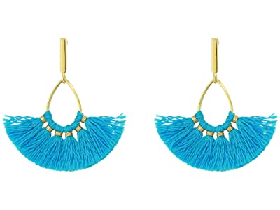 J.Crew Sweepy Tassel Earrings (Mineral Blue) Earring