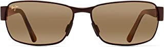 Maui Jim Sunglasses   Black Coral 249   Rectangular Frame, Polarized Lenses, with Patented PolarizedPlus2 Lens Technology