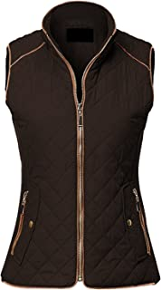 MAYSIX APPAREL Sleeveless Lightweight Zip Up Quilted Padding Vest Jacket for Women (S-3XL)