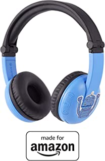 All New, Made for Amazon Bluetooth BuddyPhones, PlayTime in Blue – Ages (3-7)