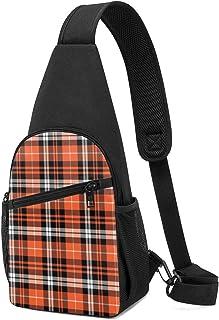 Bolsa de hombro ligera con estampado de calabaza otoñal, color naranja, negro, blanco y naranja, mochila para el pecho y e...