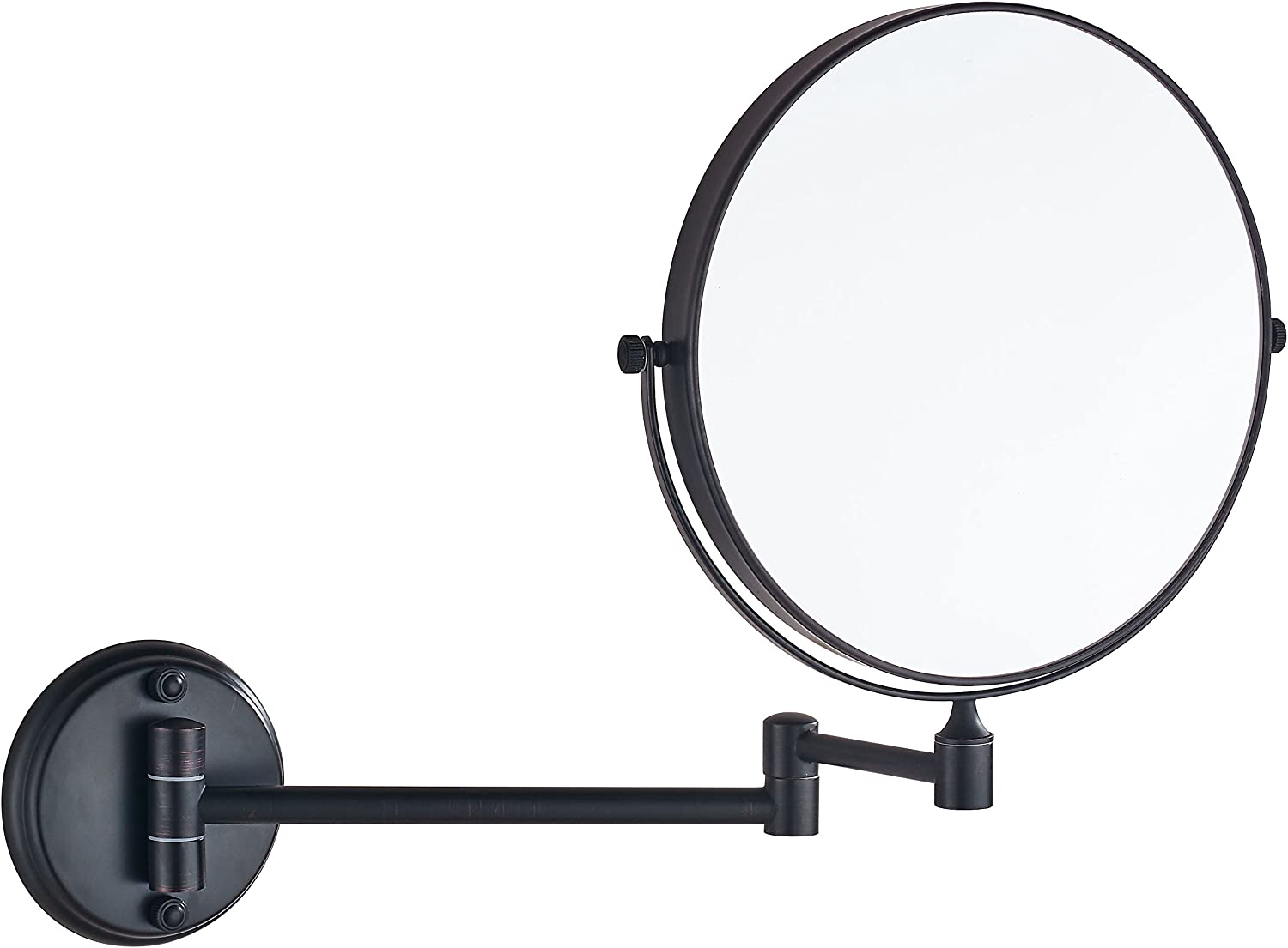 Cavoli 8 Inch Two-Sided Swivel Wall Mounted Mirror with 7X Magnification,ORB Finish(8in,7X)