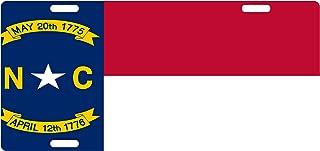 Fast Service Designs North Carolina State Flag Custom License Plate Emblem Original Version