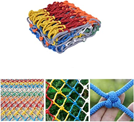 HWJ Children s Stairs Protection Net Room Partition Net Ceiling Net Color Decorative Net Hand-woven Industrial Polyester Mesh Rope Thickness 6mm Grid 6cm  Size 2x7m