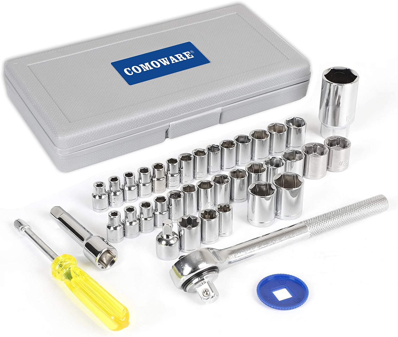COMOWARE Popular products Socket Sets Super intense SALE Metric Standard Ratchet Mechanic T Set
