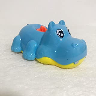 Heo Created Pool Wind Up Bath Toys Animal Clockwork Play Toy Kids Early Education Water Toy Suitable for Water/Ground Hippo