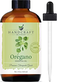 Handcraft Oregano Essential Oil - 100% Pure and Natural - Premium Therapeutic Grade with Premium Glass Dropper - Huge 4 fl...