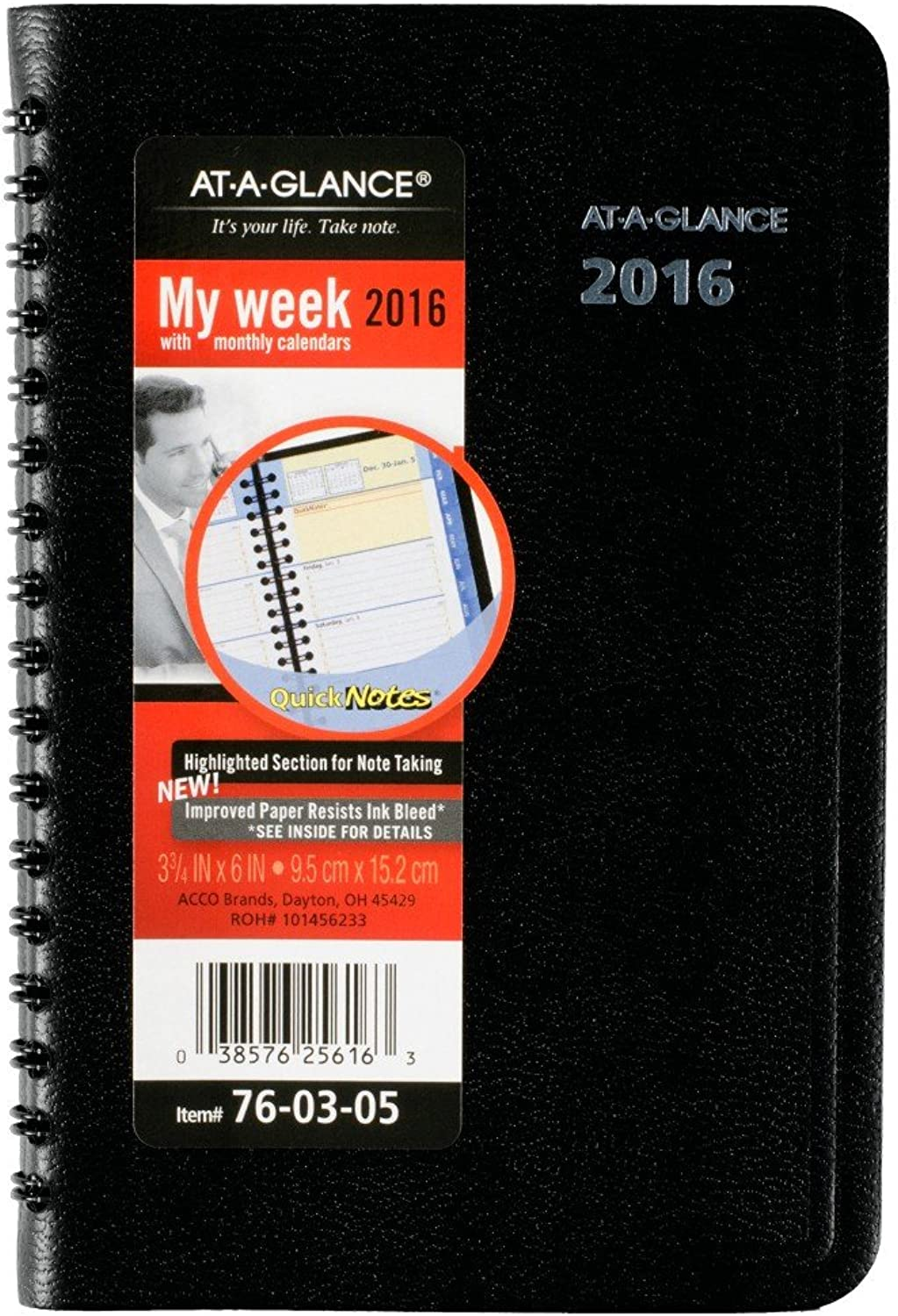 AT-A-GLANCE Weekly   Monthly Appointment Book   Planner 2016, Quick Notes, Pocket Größe, 12 Month, 3.75 x 6 Inch Page Größe (760305) by At-A-Glance B00WUUQEB2 | Deutschland Shops