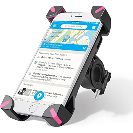 MTB Handyhalter Motorrad Verstellbar Motorradhalter Fahrradlenker Universal 3.5-6.5 Zoll 360/°Drehbar Schwarz WAZA Handyhalterung Fahrrad