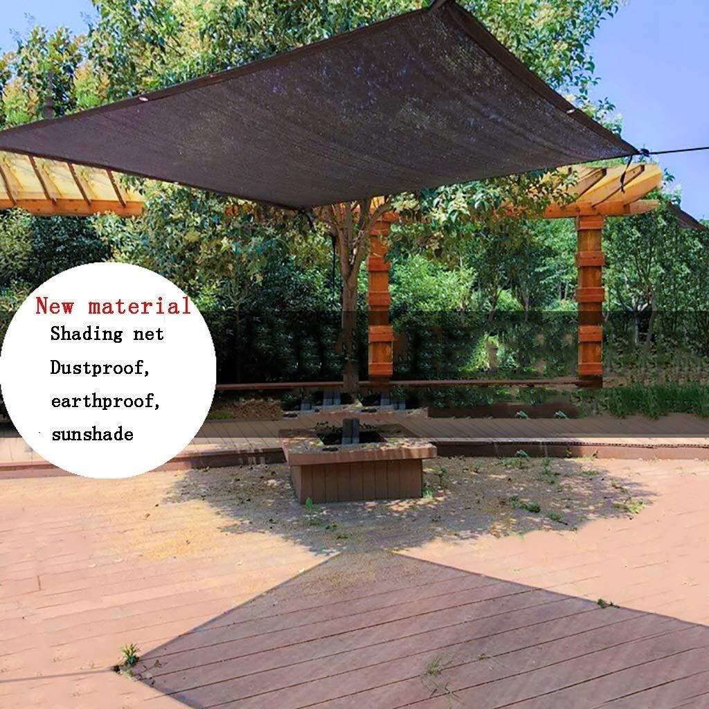 Tarpaulin Red de Parasol de Lona, 8 Pines 80% de Tasa de Sombreado Red de Protección Solar/Cifrado Grueso Borde Negro Coche Jardín Techo Balcón Aislante Red de Sombra (Tamaño: 4 * 5M),Los