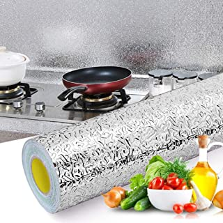 shlutesoy Black Friday 50% off Home Kitchen Self Adhesive Waterproof Oilproof Aluminium Foil Wallpaper Sticker