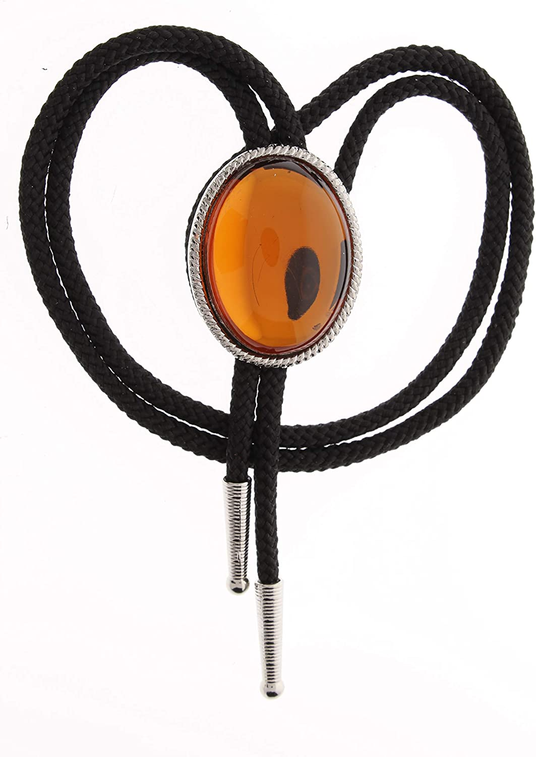 amber (acrylic Stone-German made) Oval stone Bolo, MADE IN USA, sold by each