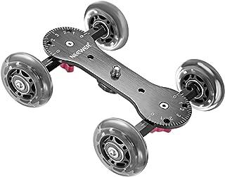 Neewer カメラテーブルドリースライダー 耐荷重10キロ DSLRビデオカメラに適用 「黒」