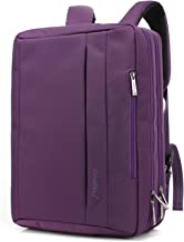 CoolBELL 17.3 inches Convertible Laptop Messenger Bag Oxford Cloth Shoulder Bag Backpack Multi-Functional Briefcase for Laptop/MacBook/Tablet Women (Purple)