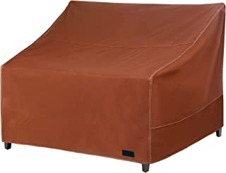 NettyPro Patio Loveseat Bench Cover 58 Inch, Waterproof 600D Heavy Duty Outdoor Furniture 2 Seater Sofa Cover, Brown
