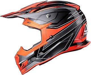 GLX Unisex-Adult GX23 Dirt Bike Off-Road Motocross ATV Motorcycle Helmet for Men Women, DOT Approved (Sear Orange, X-Large)
