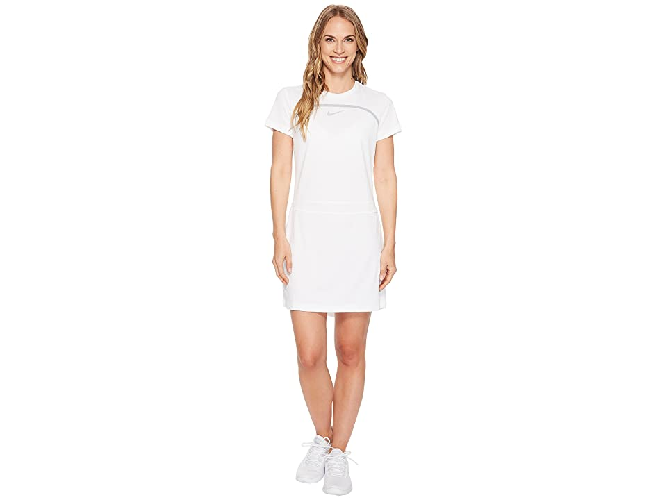 Nike Golf Dry Short Sleeve Dress (White/Wolf Grey/Flat Silver) Women